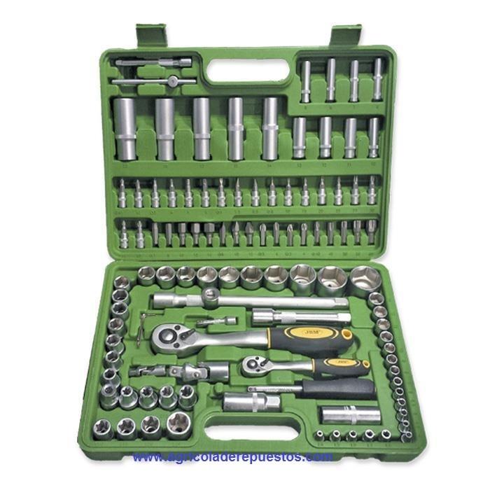 Estuche de herramientas de 108 piezas con vasos Hexagonales. VLA