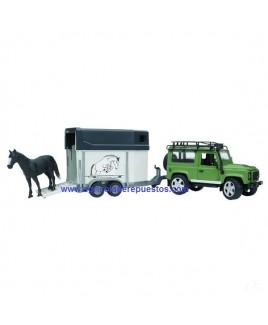 Land Rover Def. rem. caballos. Land Rover