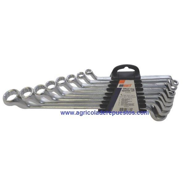 Juego de llaves poligonales 8 piezas 6-22 mm. Gopart
