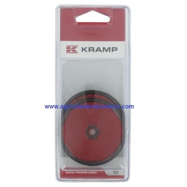 Reflectores rojos 60 mm (2x).  Kramp