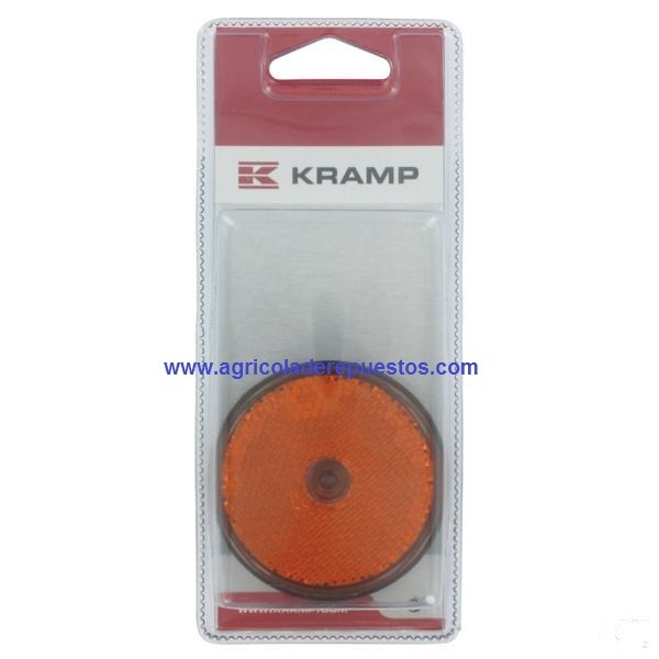 Reflectores naranja 60 mm (2x).  Kramp
