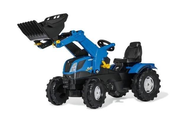 Tractor New Holland T7 con pala cargadora